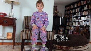 A wonderful way to spend the morning—in footies!